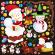 クリスマスデコレーション用イラスト 看板・ボード用イラストシール (W285×H285mm)