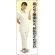 肩こり・腰痛 女性白衣セパレート 等身大バナー 素材:トロマット(厚手生地) (62257)