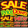 SALE PriceDown NEW 看板・ボード用イラストシール (W285×H285mm)