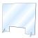 飛沫感染防止 卓上アクリルパーテーション W600×H500 窓あり (380398)