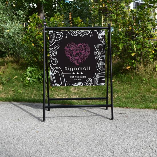 ■Bサイン(ブラック)正面写真の例。屋外OKのオシャレ看板です。