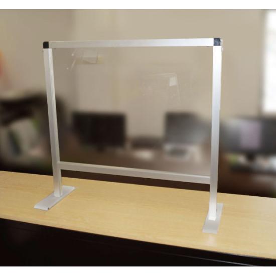 ■飛沫防止アクリルパーティションスタンド 設置事例(450×600・通常タイプ)