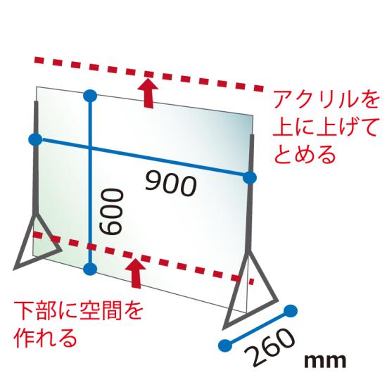 ■寸法図:ディフェンスパネル600×900タイプ