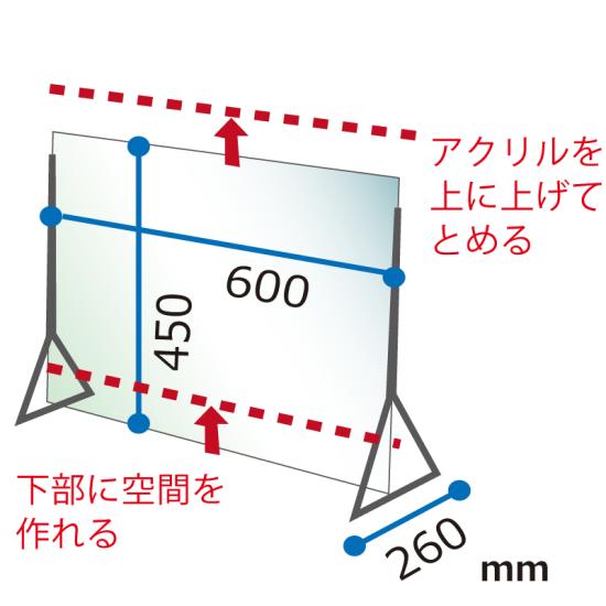 ■寸法図:ディフェンスパネル450×600タイプ