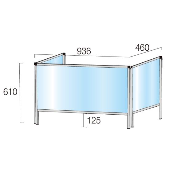 ■寸法図:450×900(通常タイプ)