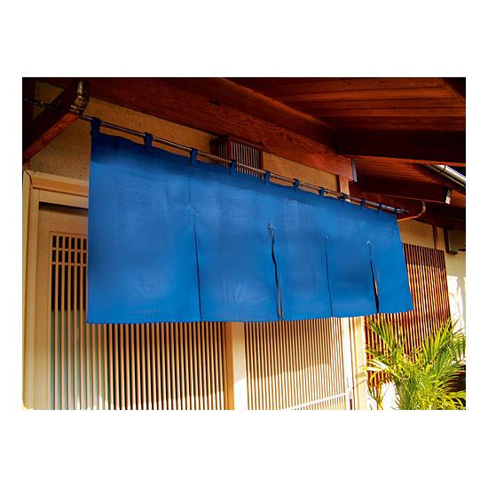 ■無地のれん使用例 ※下記の写真は、のれん 5巾[1801] 紺です。