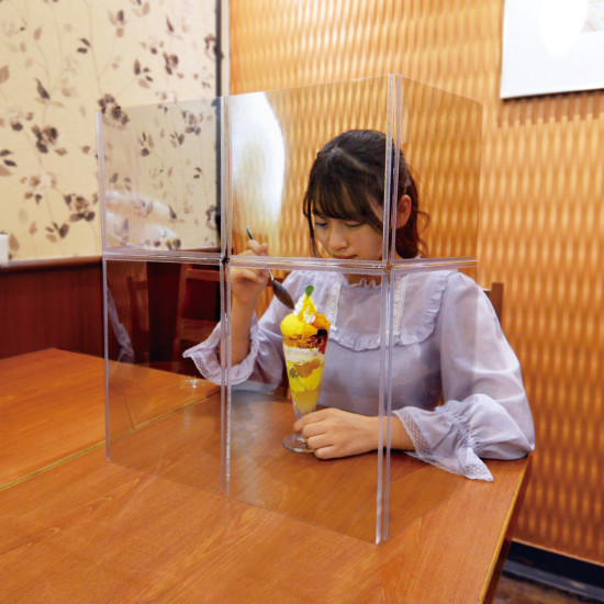 ■飲食店や学食・食堂などでの飲食時に。