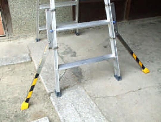 起伏箇所でセーフティライダーを使用したイメージ。
