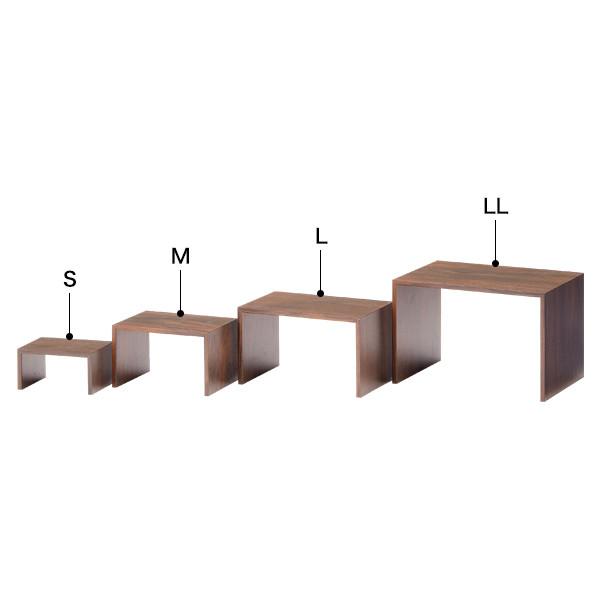 木製コの字ディスプレイ(ブラウン) S