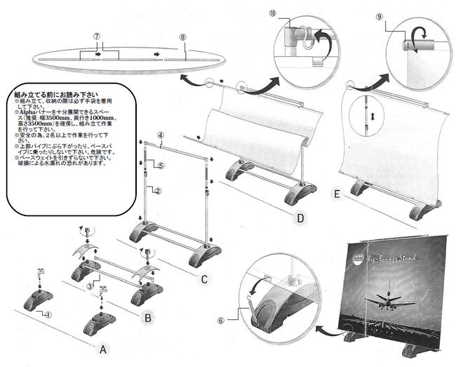 ■アルファバナーの組み立て方法