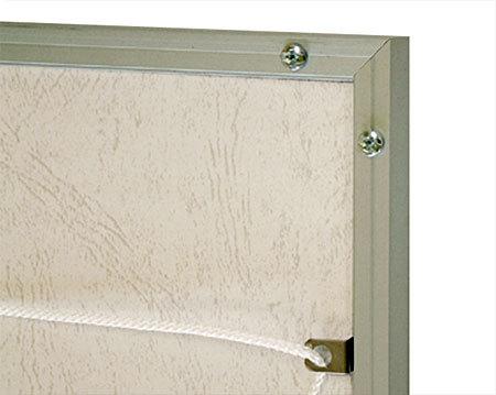 ■イレパネ シェイプ 裏面(コーナー部・吊り具)※A0サイズは金具がフレームの横に付いてます。