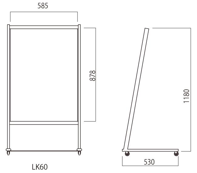 ■ルック600幅 寸法図