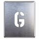 吹付け用アルファベットプレート 350×300 表示内容:G (349-21A)