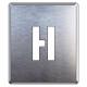 吹付け用アルファベットプレート 350×300 表示内容:H (349-22A)