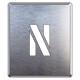 吹付け用アルファベットプレート 350×300 表示内容:N (349-28A)