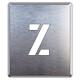 吹付け用アルファベットプレート 350×300 表示内容:Z (349-40A)