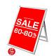 ポスター用スタンド看板 マグネジ  B1ロータイプ シルバー/ホワイト 片面 (PSSKMN-B1LKW)