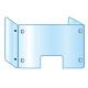 3面・コの字型アクリルパーテーション (飛沫感染プロテクションガード)  3面窓付 600×900×300 (APT3F-M600X900X300)
