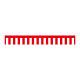 紅白幕 トロピカル 高さ450mm×2間(幅3600mm)(23933)