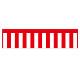 紅白幕 トロピカル 高さ900mm×2間(幅3600mm)(23941)