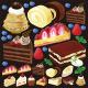 ケーキ(2) 看板・ボード用イラストシール (W285×H285mm)