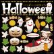 HALLOWEEN タイトル・お化け・かぼちゃ 看板・ボード用イラストシール (W285×H285mm)