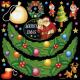 メリークリスマス2 看板・ボード用イラストシール (W285×H285mm)