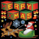 メリークリスマス5 看板・ボード用イラストシール (W285×H285mm)