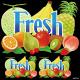 果物 fresh 看板・ボード用イラストシール (W285×H285mm)