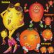 レモン・オレンジ・マンゴーキャラクター 看板・ボード用イラストシール (W285×H285mm)