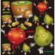 キウイ・アップル・ラフランスキャラクター 看板・ボード用イラストシール (W285×H285mm)