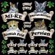 猫各種 看板・ボード用イラストシール