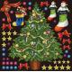 クリスマス(4) 看板・ボード用イラストシール (W285×H285mm)