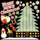 イベント(3) クリスマス 看板・ボード用イラストシール (W285×H285mm)