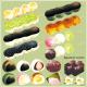和菓子 団子 看板・ボード用イラストシール (W285×H285mm)