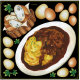 オムライス・フランスパン ボード用イラストシール (68546)