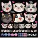 猫の顔 看板・ボード用イラストシール