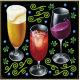 ビール・カクテル・ワイン ボード用イラストシール グラス3つ(68562)