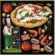 ピザ・コック ボード用イラストシール (68567)