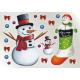 ウィンドウシール 両面印刷 クリスマス スノーマン (6886)