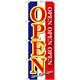 のぼり旗 OPEN 青白赤 (GNB-2558)