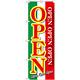 のぼり旗 OPEN 緑白赤 (GNB-2559)