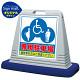 サインキューブ 3マーク専用駐車場 グレー 片面表示 (SMオリジナルデザイン)