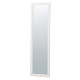 木製スリム立掛けミラー (鏡厚5mm) ホワイト