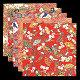友禅和紙 赤絵・2.5寸 100枚(各20枚x5柄) (W64240)