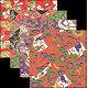 友禅千代紙 2.5寸 100枚(各25枚x4柄) (W66521)