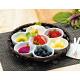 オードブル染篭B(花型パレット皿セット) (W24676)