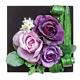 ボックスフラワー (壁掛・置き兼用タイプ) (造花) 高さ14cm 光触媒 (350A30)