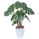 モンステラポット (人工観葉植物) 高さ40cm 光触媒 (433A60)