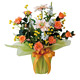 サンセットローズ (造花) 高さ45cm 光触媒 (468A60)